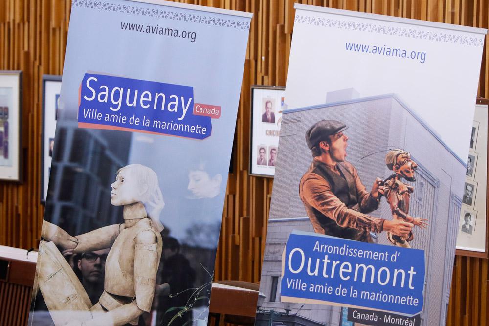 Exposition des Villes amies de la Marionnette à Saguenay (Canada)