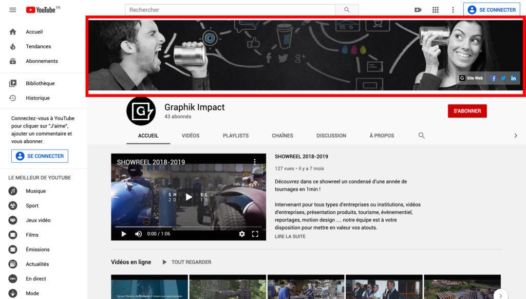 Bannière Youtube