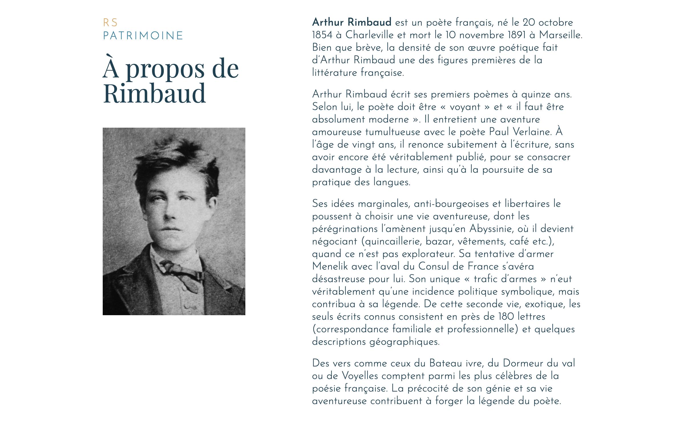 Capture Site Web - Rimbaud Suites