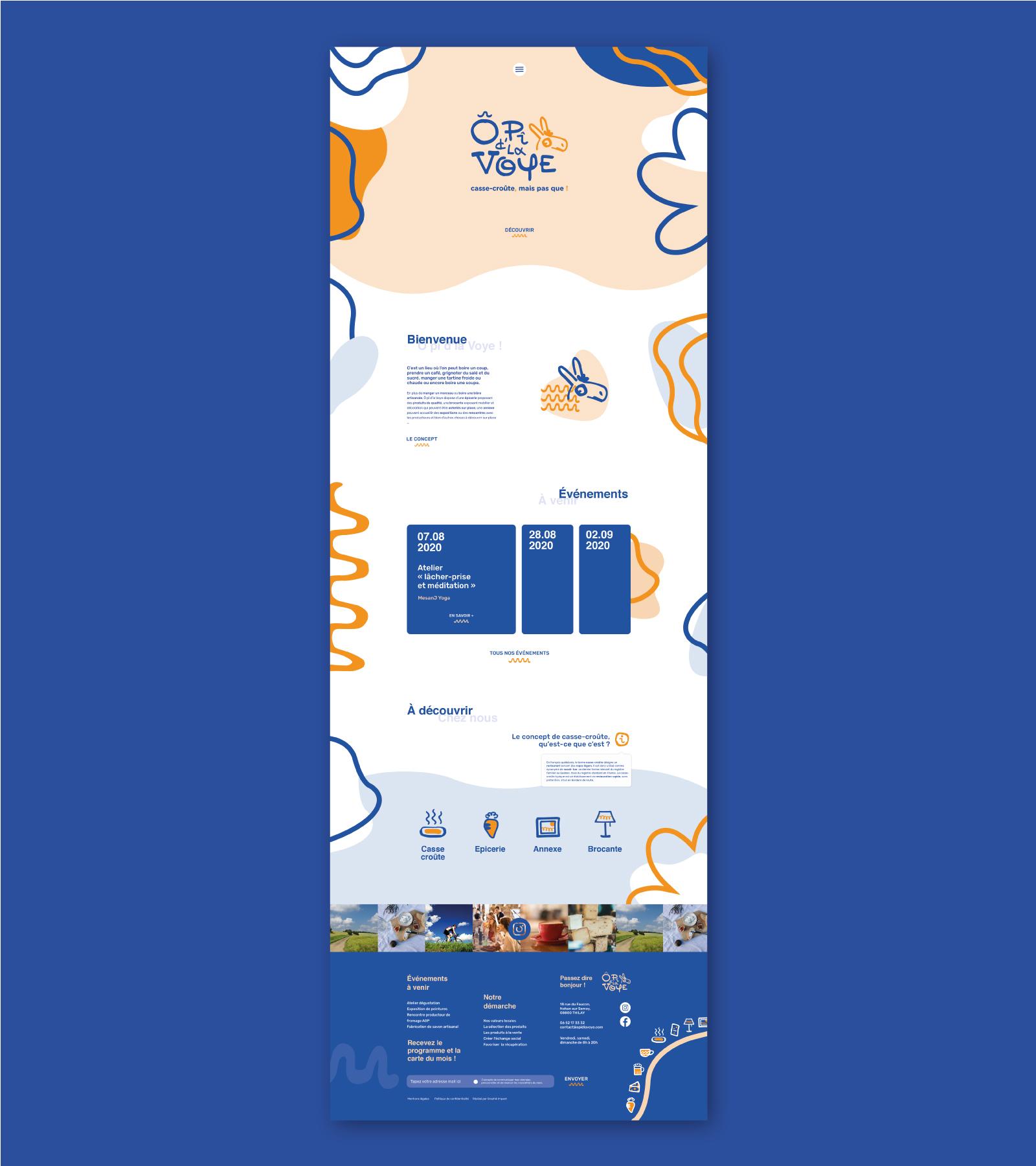 Web design de la page d'accueil du site O pî d'la Voye