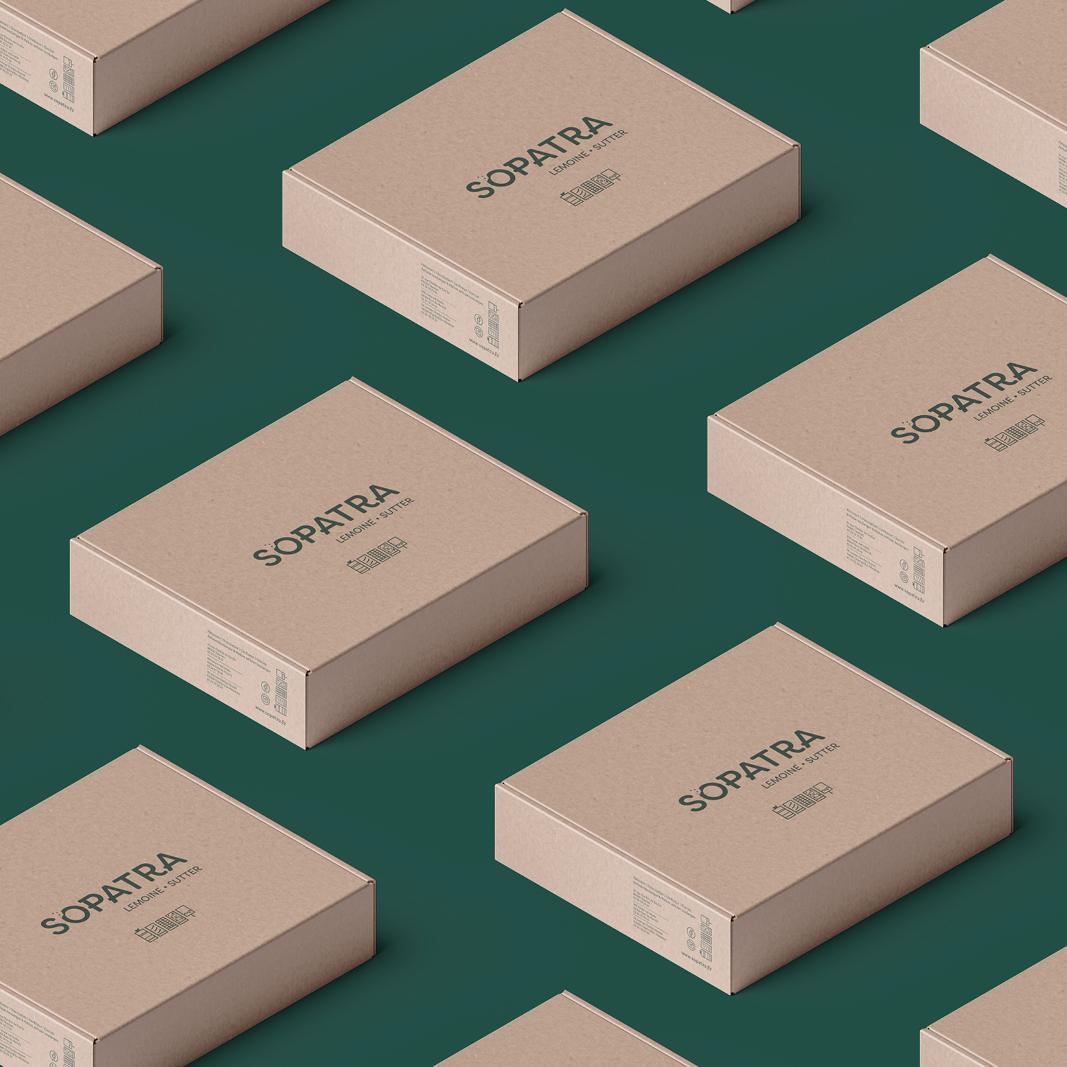 Packaging boite kraft Sopatra